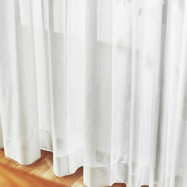 カーテン シェード 川島織物セルコン MIRROR LACE FT6705 スタンダード縫製 約2倍ヒダ