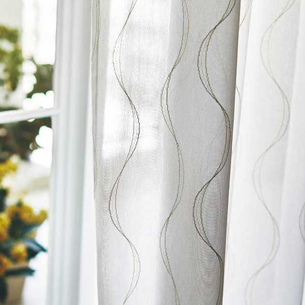カーテン シェード 川島織物セルコン MIRROR LACE FT6707 スタンダード縫製 約2倍ヒダ