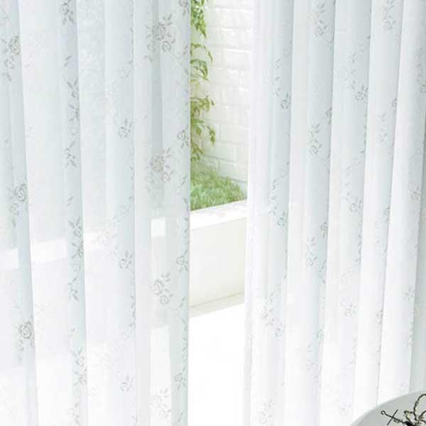 カーテン シェード 川島織物セルコン MIRROR LACE FT6713 スタンダード縫製 約1.5倍ヒダ