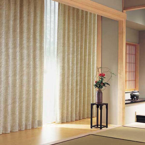 カーテン 激安 東リ オーダーカーテン&シェード elure 和風 KSA60173スタンダード縫製 約1.5倍ヒダ 2ツ山仕様 (税別価格) タッセル含む