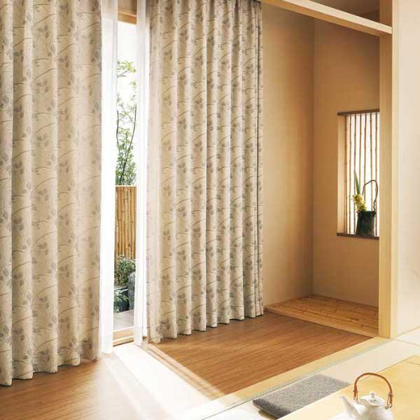 カーテン 激安 東リ オーダーカーテン&シェード elure 和風 KSA60175スタンダード縫製 約1.5倍ヒダ 2ツ山仕様 (税別価格) タッセル含む
