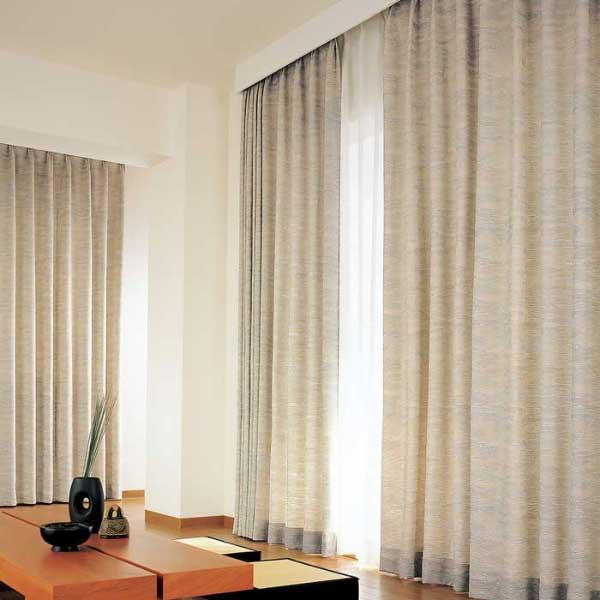 カーテン 激安 東リ オーダーカーテン&シェード elure 和風 KSA60176スタンダード縫製 約1.5倍ヒダ 2ツ山仕様 (税別価格) タッセル含む