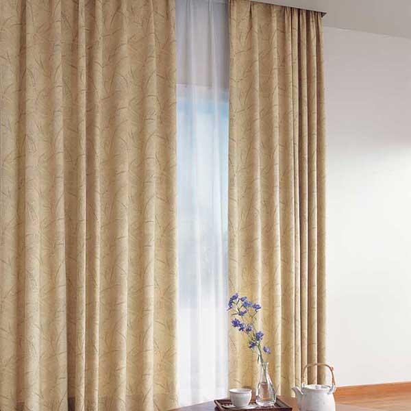 カーテン 激安 東リ オーダーカーテン&シェード elure 和風 KSA60177スタンダード縫製 約1.5倍ヒダ 2ツ山仕様 (税別価格) タッセル含む