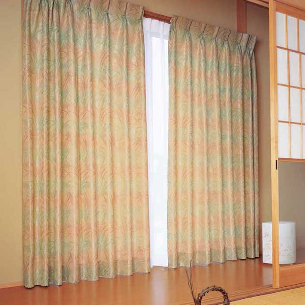 カーテン 激安 東リ オーダーカーテン&シェード elure 和風 KSA60178スタンダード縫製 約1.5倍ヒダ 2ツ山仕様 (税別価格) タッセル含む