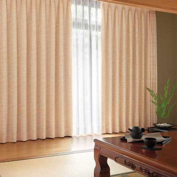 カーテン 激安 東リ オーダーカーテン&シェード elure 和風 KSA60192スタンダード縫製 約1.5倍ヒダ 2ツ山仕様 (税別価格) タッセル含む