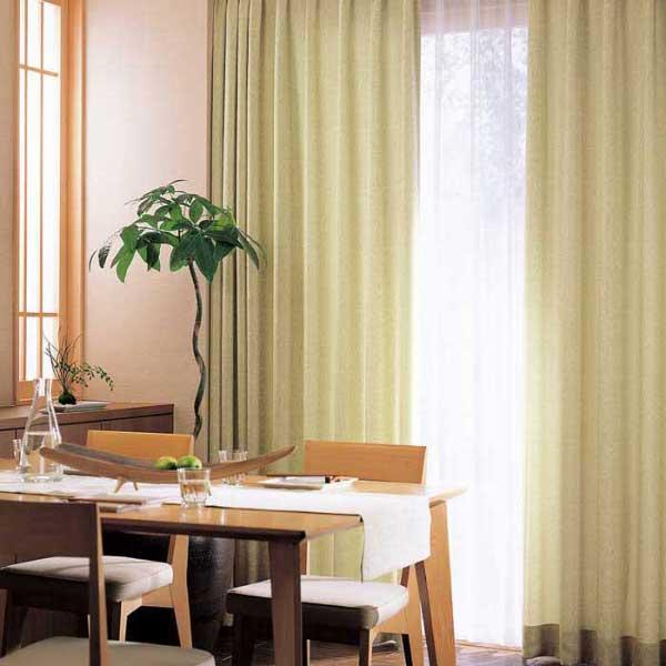 カーテン 激安 東リ オーダーカーテン&シェード elure 和風 KSA60193スタンダード縫製 約1.5倍ヒダ 2ツ山仕様 (税別価格) タッセル含む