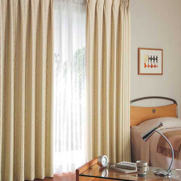 カーテン 激安 東リ オーダーカーテン&シェード elure 遮光 KSA60257スタンダード縫製 約2倍ヒダ 3ツ山仕様 (税別価格) タッセル含む
