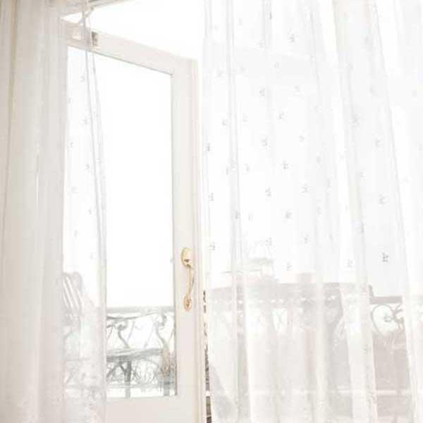 カーテン 激安 東リ オーダーカーテン&シェード elure エンブロイダリー KSA60404スタンダード縫製 約2倍ヒダ 3ツ山仕様 ヨコ使い (税別価格) タッセルなし