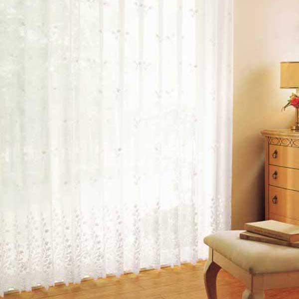 カーテン 激安 東リ オーダーカーテン&シェード elure エンブロイダリー KSA60405スタンダード縫製 約2倍ヒダ 3ツ山仕様 ヨコ使い (税別価格) タッセルなし