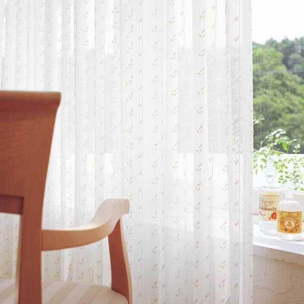 カーテン 激安 東リ オーダーカーテン&シェード elure ミラーレース KSA60472スタンダード縫製 約1.5倍ヒダ 2ツ山仕様 (税別価格) タッセルなし