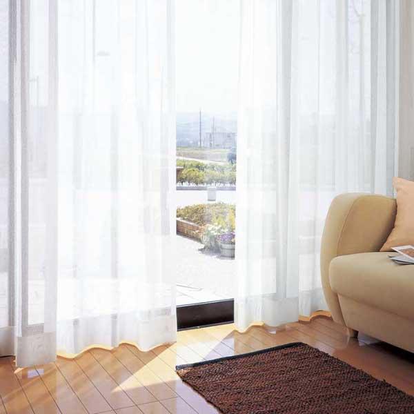 カーテン 激安 東リ オーダーカーテン&シェード elure ミラーレース KSA60477スタンダード縫製 約2倍ヒダ 3ツ山仕様 (税別価格) タッセルなし