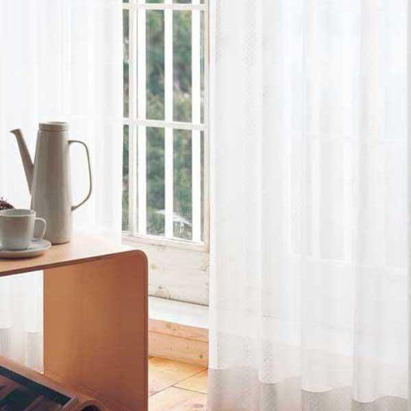 カーテン 激安 東リ オーダーカーテン&シェード elure ミラーレース KSA60489スタンダード縫製 約2倍ヒダ 3ツ山仕様 (税別価格) タッセルなし