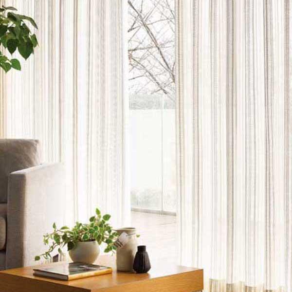 カーテン 激安 東リ オーダーカーテン&シェード elure ケースメント KSA60498スタンダード縫製 約1.5倍ヒダ 2ツ山仕様 (税別価格) タッセルなし