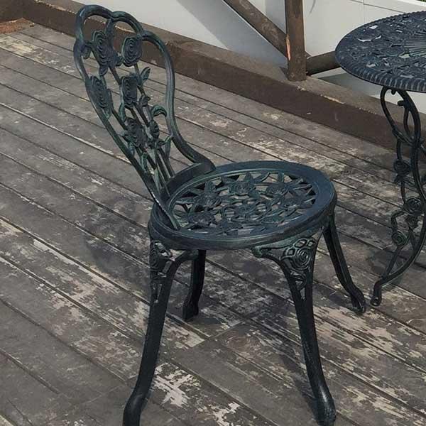 ガーデニング 我が家の素敵なガーデン&インテリア JABIS Garden+Interior★アルミ鋳物チェア(中) 1脚 コード(13037)