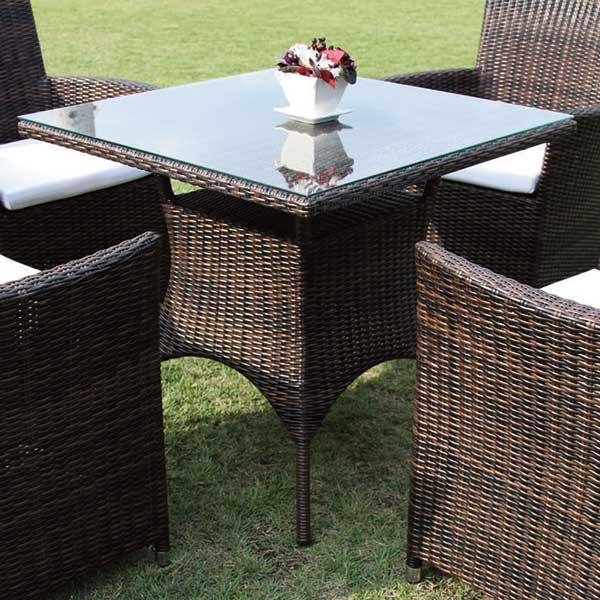 我が家の素敵なガーデン&インテリア JABIS コード(38711) ガーデニング Garden+Interior★スクエアガラステーブルNH-2060Z-DB