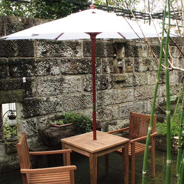 ガーデニング Garden+Interior★3.0mφ 我が家の素敵なガーデン&インテリア ホワイト コード(13061) アンブレラ JABIS