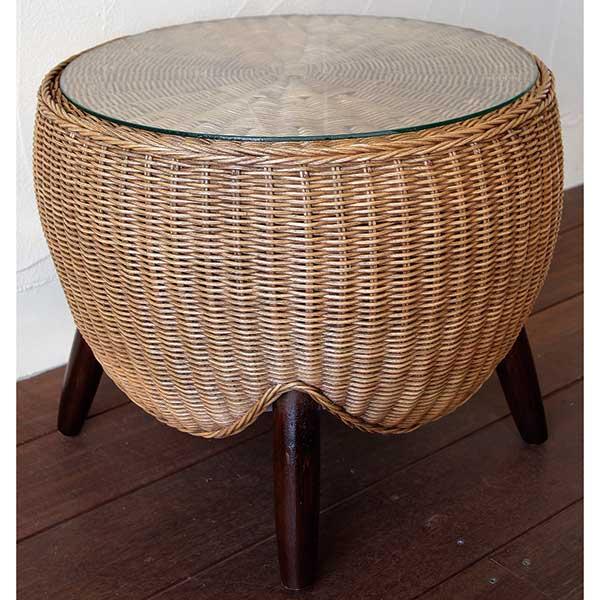 Garden+Interior★ロタンサイドテーブル コード(41602) JABIS 我が家の素敵なガーデン&インテリア ガーデニング
