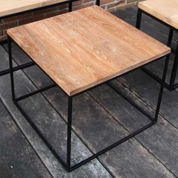 ガーデニング 我が家の素敵なガーデン&インテリア JABIS Garden+Interior★アイアンウッドキューブテーブル コード(34257)