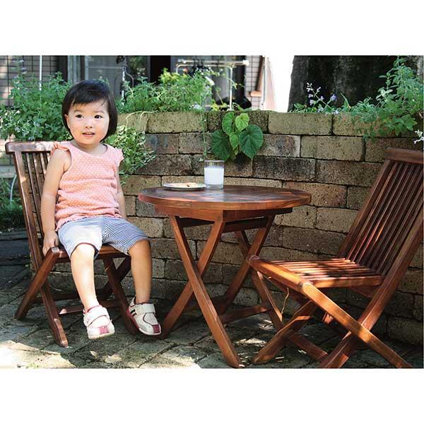 ガーデニング 我が家の素敵なガーデン&インテリア JABIS Garden+Interior★ミニ折り畳み3点セット(塗装) コード(20870)
