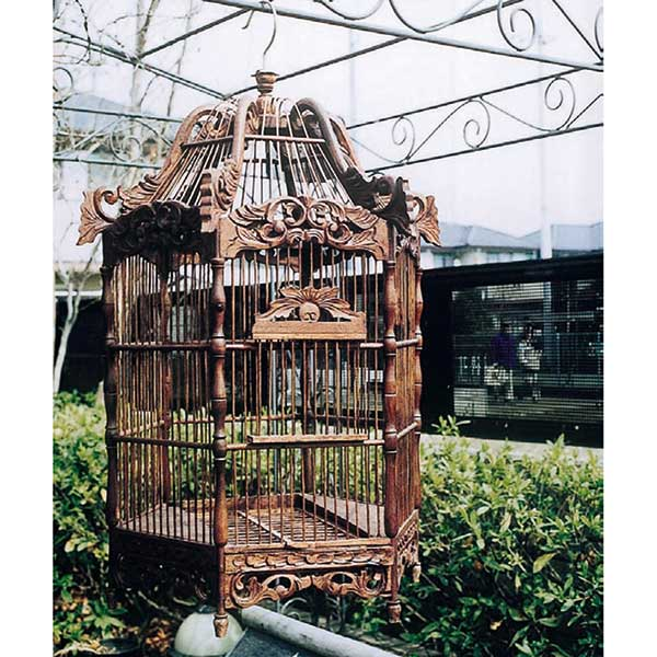 ガーデニング 我が家の素敵なガーデン&インテリア JABIS Garden+Interior★アンティーク鳥かご 六角形 Bタイプ コード(15406)
