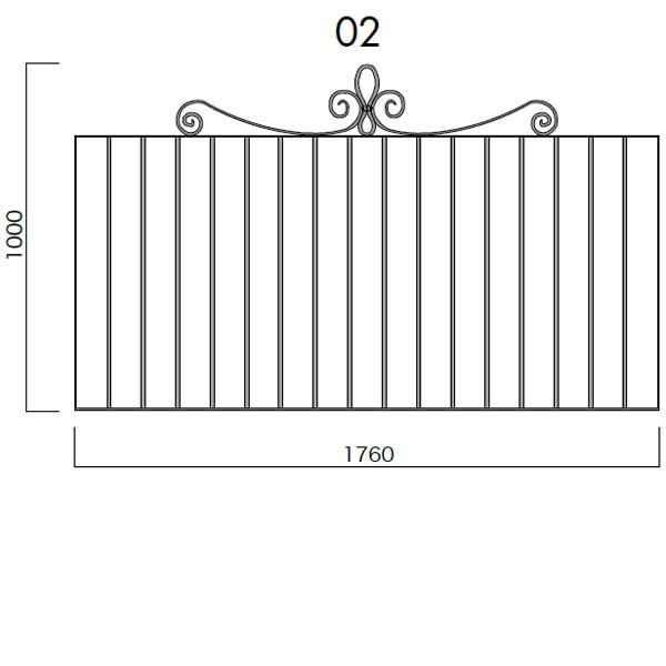 ガーデニング 我が家の素敵なジャービス エクステリア JABIS Exterior★フレンチフェンス本体1708 コード(34152)