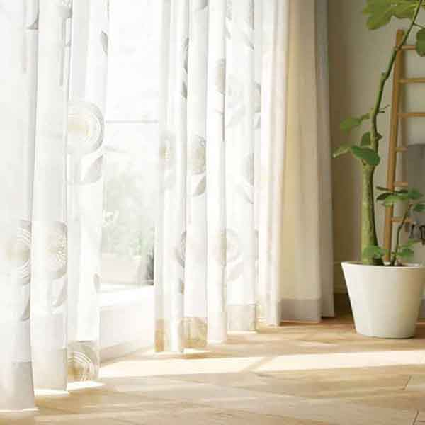 カーテン プレーンシェード リリカラ SALA BASIC NATURAL LS-61079 レギュラー縫製 約1.5倍ヒダ 2ツ山仕様