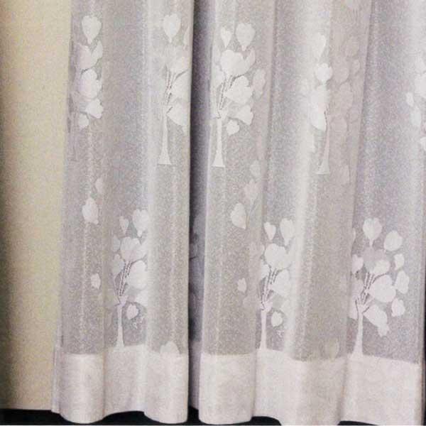 カーテン 激安 ノイエ(neue)のオーダーカーテン プルーン レースグレープフラワー オーダーカーテン(標準縫製) 約2倍ヒダ