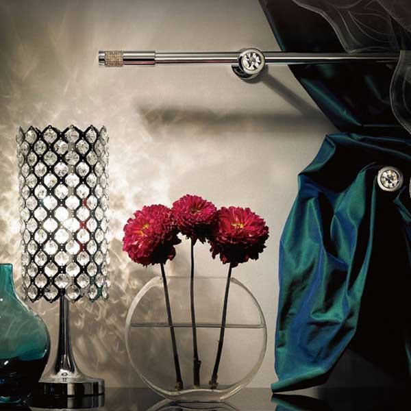 【送料無料】カーテンレール 激安 タチカワの装飾オーダーカーテンレール リューベック シングル正面付けセット ステラ シルバー ~2.0m