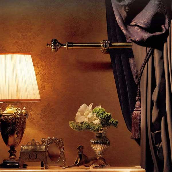 カーテンレール 激安 タチカワの装飾オーダーカーテンレール オラトリオ シングル正面付けセット クラウン ゴールド ~3.0m