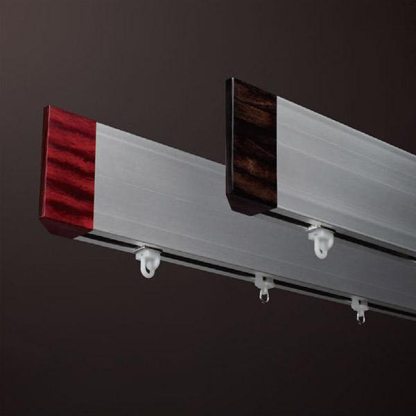 【送料無料】カーテンレール 激安 タチカワの装飾カーテンレール レゼルバクワド シングル正面付けセット プレーンフィニアル ~3.1m