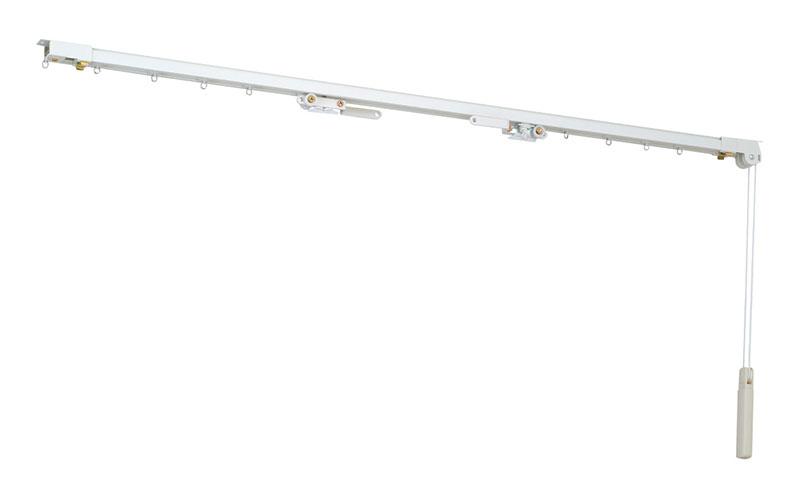◆機能性レール | CM2000紐引きレール 両開きセット(受注生産品) 0.50~1.00m