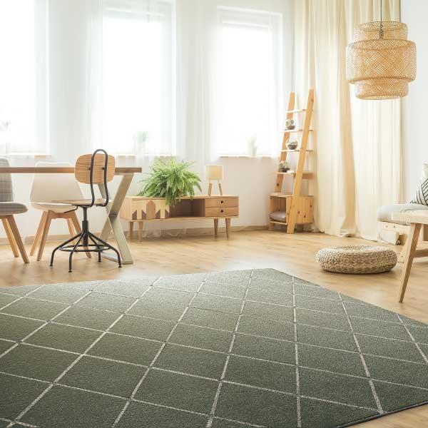 ラグ・カーペット・絨毯・マット PTT繊維カーペット アルテア GN(グリーン)190X190cm