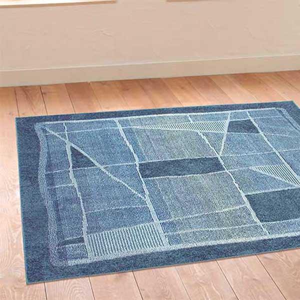 ラグ・カーペット・絨毯・マット防ダニラグだから安心・快適なアスワンラグ OM-100 BL(ブルー) 130X190cm