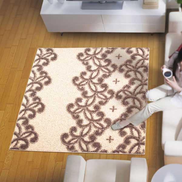 ラグ・カーペット・絨毯・マットきれいめラグだから美しいアスワンラグ パメラBE(ベージュ) 130X190cm