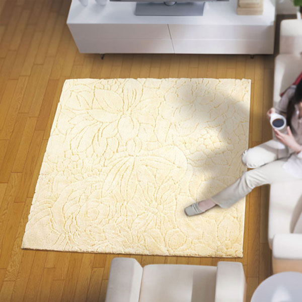 ラグ・カーペット・絨毯・マットきれいめラグだから美しいアスワンラグ フロランIV(アイボリー) 190X240cm