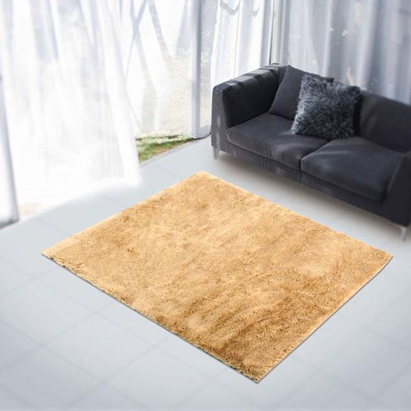 ラグ・カーペット・絨毯・マット大人気のファーラグは早いもの勝ち!アスワンラグ ライオンBE(ベージュ) 140X200cm