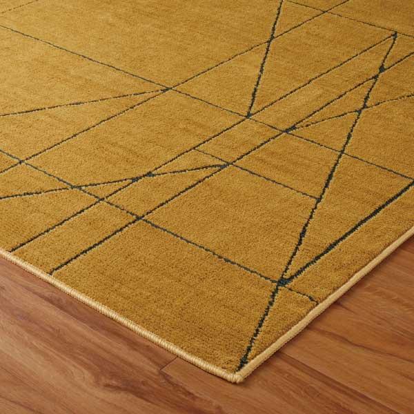 ラグ・カーペット・絨毯・マット 防ダニラグだから安心・快適なアスワンラグ レジェール MS(マスタード)185X185cm