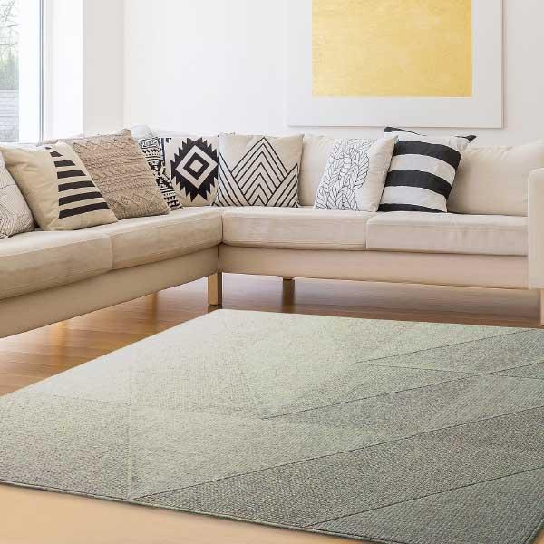 ラグ・カーペット・絨毯・マット PTT繊維カーペット メテオ GN(グリーン)190X190cm