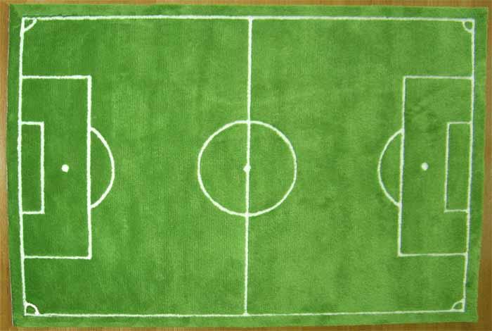 完全国内生産 ラグ マット カーペット 大人気 おしゃれでアート! サッカー(140×200 )