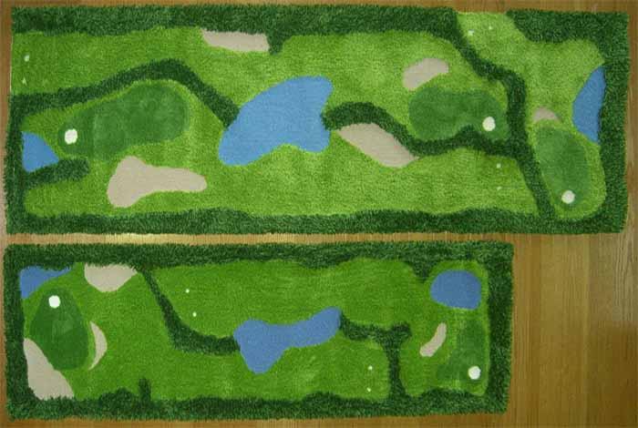完全国内生産 ラグ マット カーペット 大人気 おしゃれでアート! ゴルフ[小](60×200 )