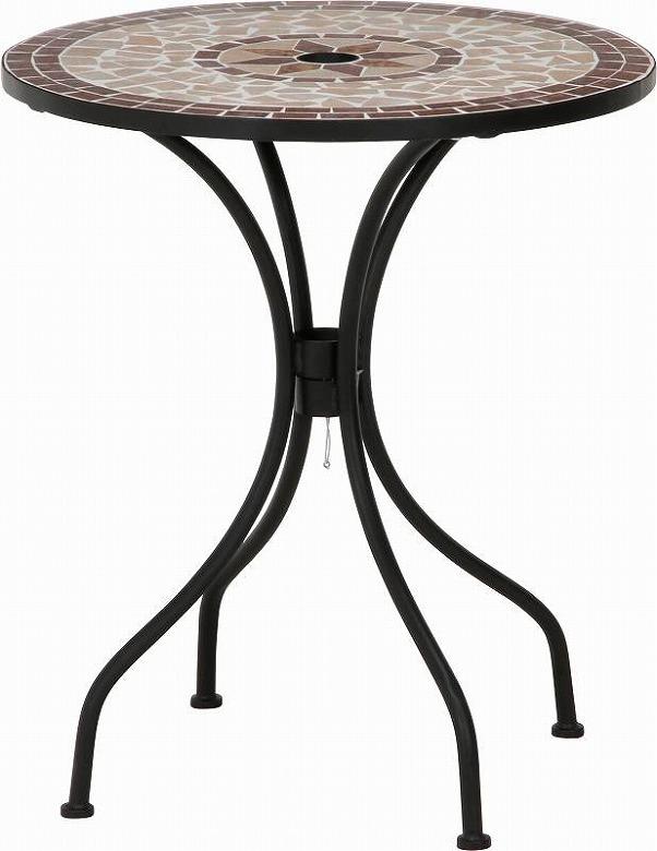 【送料無料_e】ガーデン モザイクテーブル&チェアー2脚セット ガーデンテーブル アウトドア レジャー ガーデンチェア セット 星柄
