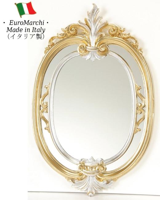 ミラー 壁掛け ウォールミラー 鏡 【送料無料】 イタリア製 bci-7517-sg bci7517sg bci-7517sg 丸型 ゴールド