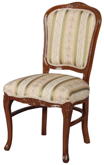 フィオーレ ダイニングチェア 【送料無料】 木製 布張り チェア sa-c-1175-b1 椅子 家具 輸入家具 sac-1175-b1 sac-1175b1 いす イス ロココ 姫系 Fiore