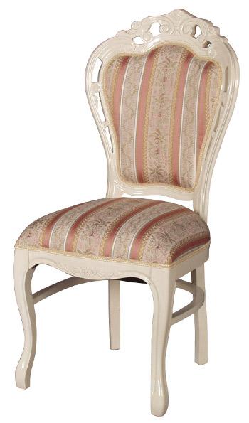 フィオーレ ダイニングチェア 【送料無料】 木製 布張り チェア sa-c-1734-w5 椅子 ホワイト 白家具 家具 輸入家具 sac-1734-w5 sac-1734w5 いす イス ロココ 姫系 Fiore