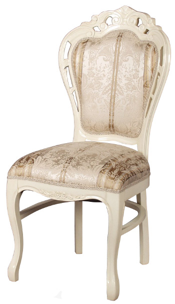 ロココ sac-1734wn 姫系 チェア ダイニングチェア ホワイト いす 家具 木製 【送料無料】 イス 布張り sac-1734-wn 椅子 sa-c-1734-wn Fiore 白家具 フィオーレ 輸入家具