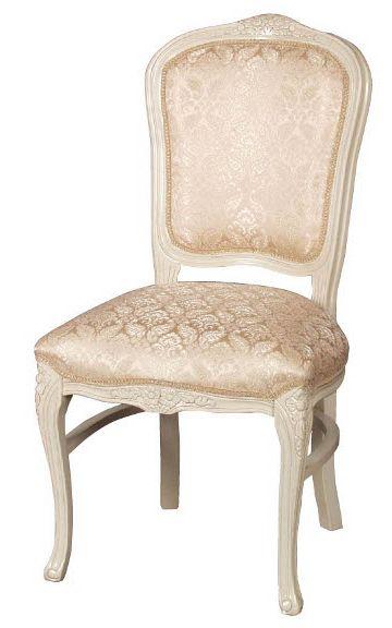 フィオーレ ダイニングチェア 【送料無料】 木製 布張り チェア sa-c-1175-w4 椅子 ホワイト 白家具 家具 輸入家具 sac-1175-w4 sac-1175w4 いす イス ロココ 姫系 Fiore