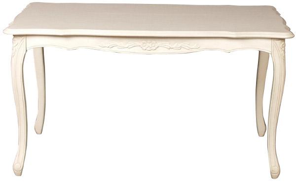 フィオーレ ダイニングテーブル 155 【送料無料】 sa-c-1174-w3-155 テーブル 食卓 家具 輸入家具 ロココ アンティーク 姫系 木製 sac-1174-w3-155 sac-1174w3-155 Fiore