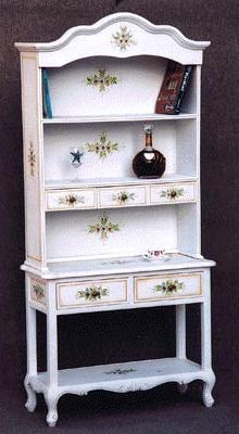 【送料無料】飾り棚 4枚戸 飾りだな コモ お姫様家具 白家具 クラックレー 関西 大阪 難波