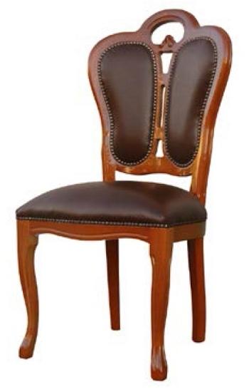 サルタレッリ フローレンス ダイニングチェア ブラウン 【送料無料】 木製 ウォールナット 合成皮革 チェア b3-501538 椅子 家具 輸入家具 イタリア家具 b3501538 いす イス
