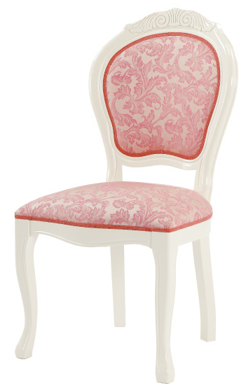Amalfi Ivory Dining Chairs Upholstered SAMI 618 IVP Dining Room Chair Italy  Design Baroque ...
